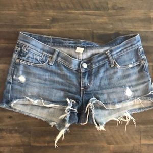 A&F Ripped Jean Shorts